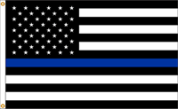 Thin Blue Line United States Nylon Flag